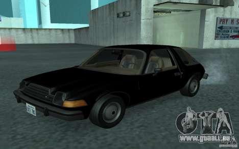 AMC Pacer pour GTA San Andreas vue intérieure