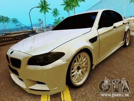 BMW M5 F10 HAMANN pour GTA San Andreas laissé vue