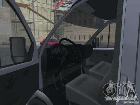 Gazelle 2705 Gruzopasažirskaâ pour GTA San Andreas vue intérieure