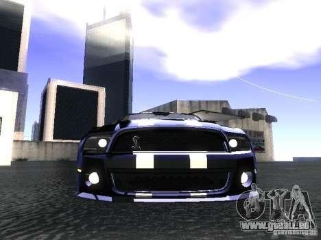 Ford Mustang Shelby GT500 pour GTA San Andreas vue de droite