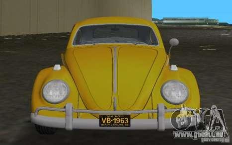 Volkswagen Beetle 1963 pour GTA Vice City vue arrière