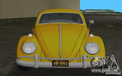 Volkswagen Beetle 1963 für GTA Vice City Rückansicht