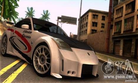 Nissan 350Z Tunable pour GTA San Andreas vue de droite