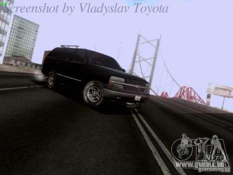 Chevrolet Tahoe 2003 SWAT pour GTA San Andreas laissé vue