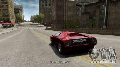 Vitesse du véhicule pour GTA 4 troisième écran
