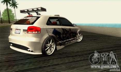 Audi A3 Tunable pour GTA San Andreas vue de droite