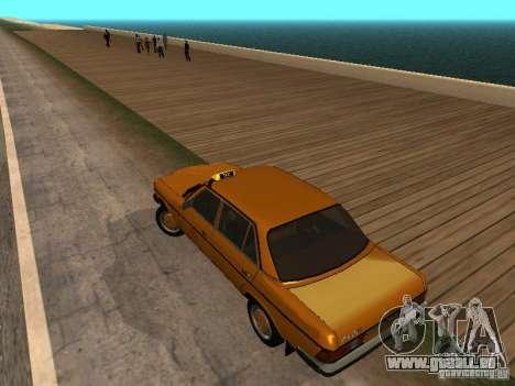 Mercedes-Benz 240D Taxi für GTA San Andreas linke Ansicht