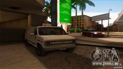 Chevrolet Van G20 pour GTA San Andreas sur la vue arrière gauche
