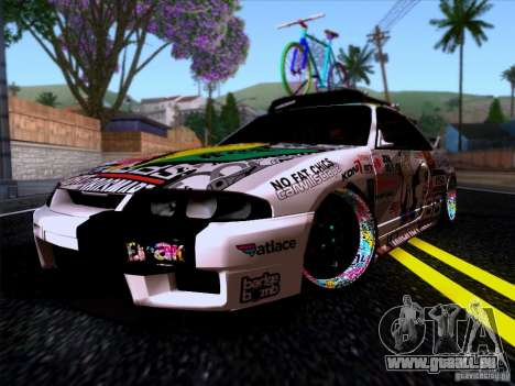 Nissan GT-R R33 HellaFlush für GTA San Andreas