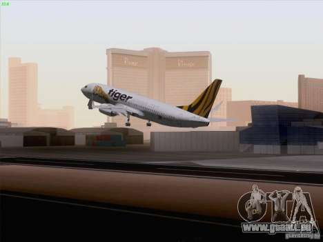 Boeing 737-800 Tiger Airways für GTA San Andreas linke Ansicht