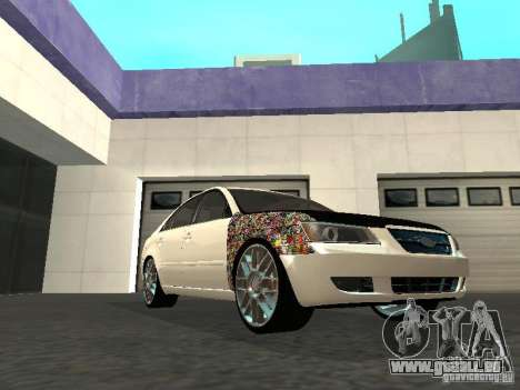 Hyundai Sonata 2008 pour GTA San Andreas sur la vue arrière gauche