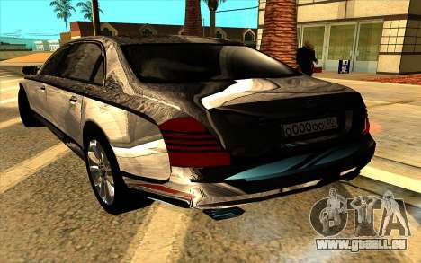 Maybach 62 pour GTA San Andreas vue de dessus