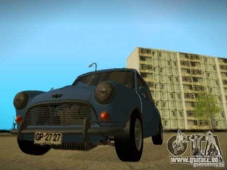 Mini Cooper 1965 für GTA San Andreas Rückansicht