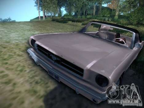 Ford Mustang Convertible 1964 pour GTA San Andreas