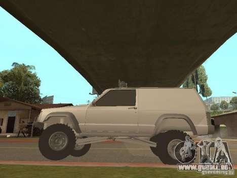 Jeep Cherokee 1984 v.2 für GTA San Andreas Rückansicht