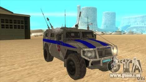 GAZ-23034 RID-1 Tiger pour GTA San Andreas vue arrière