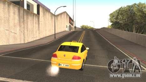 Fiat Linea Taxi pour GTA San Andreas vue de droite