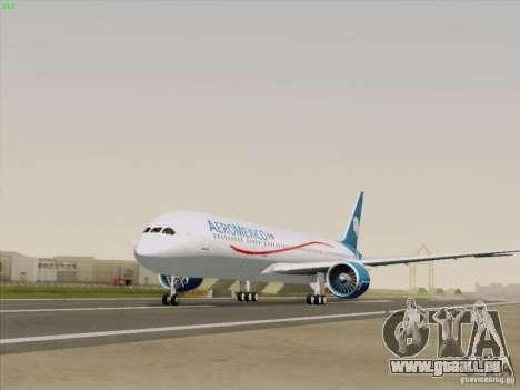 Boeing 787-8 Dreamliner AeroMexico für GTA San Andreas rechten Ansicht
