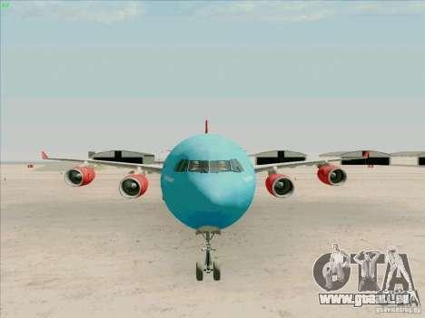 Airbus A-340-600 Plummet für GTA San Andreas Rückansicht