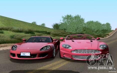 Porsche Carrera GT für GTA San Andreas obere Ansicht