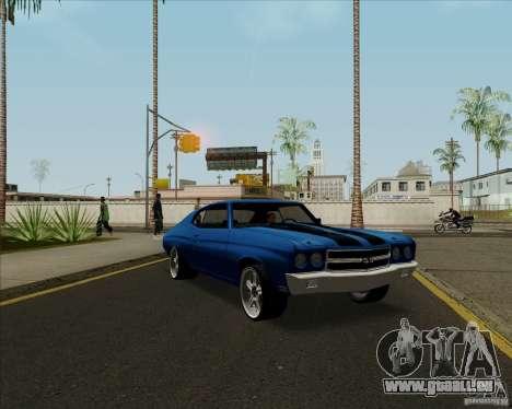 Chevrolet Chevelle SS pour GTA San Andreas vue intérieure