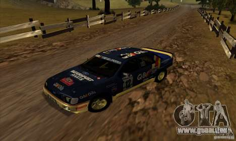 Ford Sierra RS500 Cosworth RallySport pour GTA San Andreas laissé vue