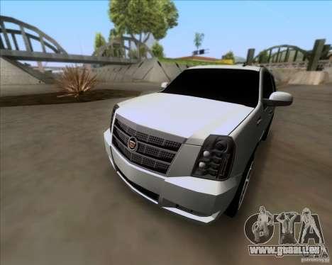 Cadillac Escalade ESV Platinum 2013 pour GTA San Andreas vue de côté