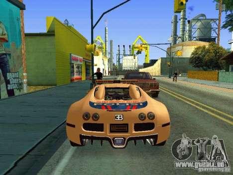 Bugatti Veyron Indonesian Police für GTA San Andreas rechten Ansicht