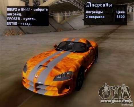 Dodge Viper SRT-10 Coupe für GTA San Andreas Unteransicht