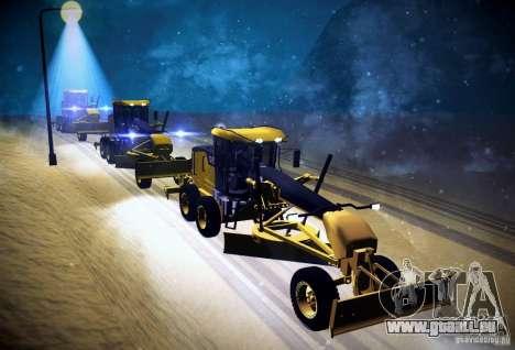 Caterpillar 140AWD Motorgrader für GTA San Andreas Rückansicht