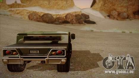 HD Patriot pour GTA San Andreas vue intérieure