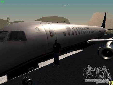 Embraer ERJ 190 USAirways für GTA San Andreas Seitenansicht
