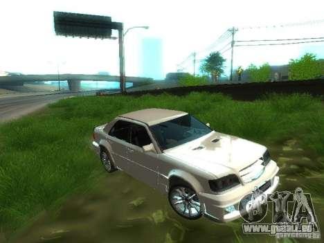 Mercedes-Benz W124 BRABUS pour GTA San Andreas vue intérieure