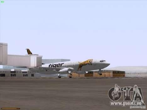 Boeing 737-800 Tiger Airways für GTA San Andreas obere Ansicht