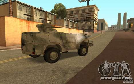 GAS-3937 Vodnik für GTA San Andreas rechten Ansicht