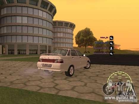 Compteur de vitesse Lada Priora pour GTA San Andreas cinquième écran