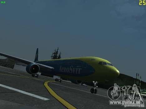 Boeing 767-300 AeroSvit Ukrainian Airlines für GTA San Andreas linke Ansicht