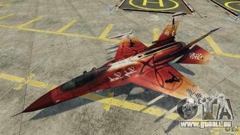 Fighterjet für GTA 4 Seitenansicht