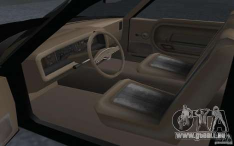 AMC Pacer pour GTA San Andreas sur la vue arrière gauche