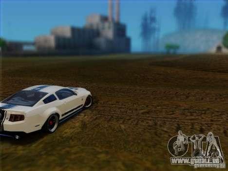 Ford Shelby GT500 SuperSnake NFS The Run Edition pour GTA San Andreas sur la vue arrière gauche