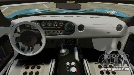 Ford GTX1 2006 für GTA 4 Innenansicht
