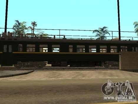 ÈR2R-7750 pour GTA San Andreas sur la vue arrière gauche