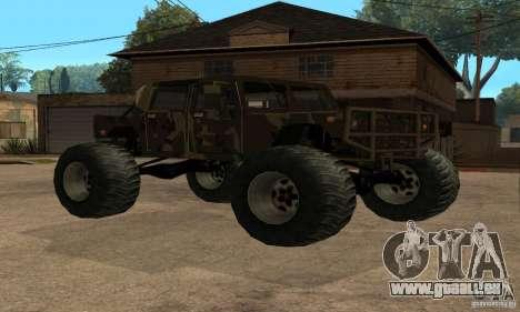 Monster Patriot für GTA San Andreas Rückansicht