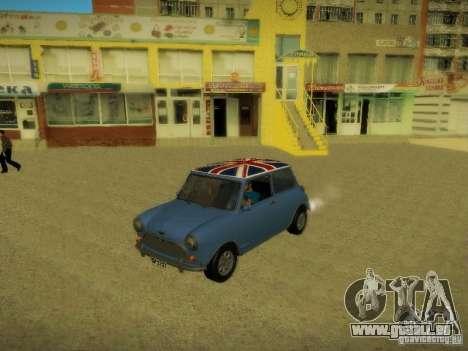 Mini Cooper 1965 für GTA San Andreas obere Ansicht