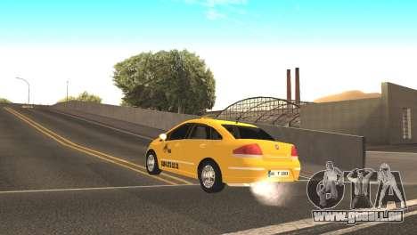 Fiat Linea Taxi pour GTA San Andreas sur la vue arrière gauche