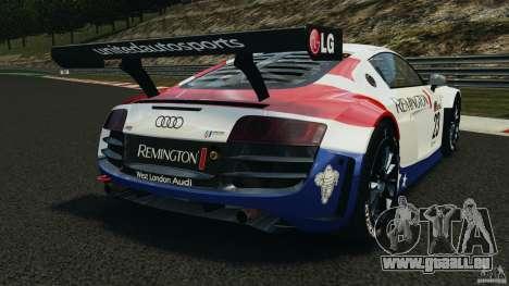 Audi R8 LMS pour GTA 4 Vue arrière de la gauche