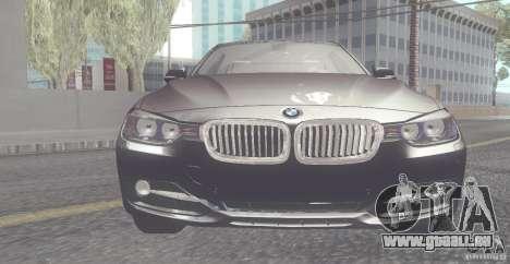 BMW 335i Coupe 2013 pour GTA San Andreas laissé vue