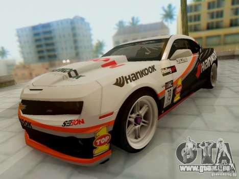 Chevrolet Camaro Hankook Tire für GTA San Andreas Rückansicht