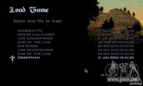 Patch pour GTA San Andres Steam V 3.00 pour GTA San Andreas troisième écran