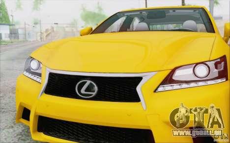 Lexus GS 350 F Sport Series IV pour GTA San Andreas vue intérieure